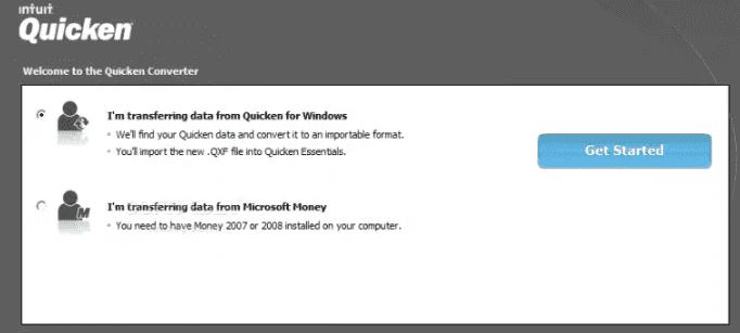 By Using Quicken Converter